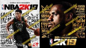nba 2k19 legend and standard edition cover